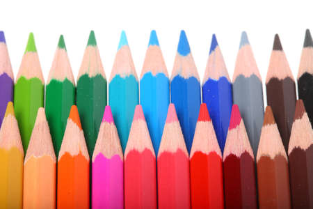 colored pencils isolated on business background Stock Photo - 8335888