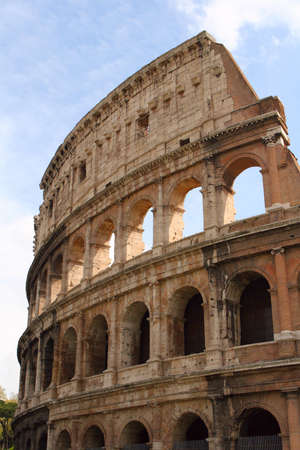 Roman Coliseum against the blue sky Stock Photo - 9214213