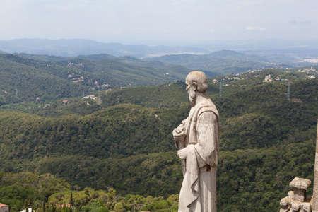 tibidabo: Panorama view of Barcelona from Mount Tibidabo Stock Photo