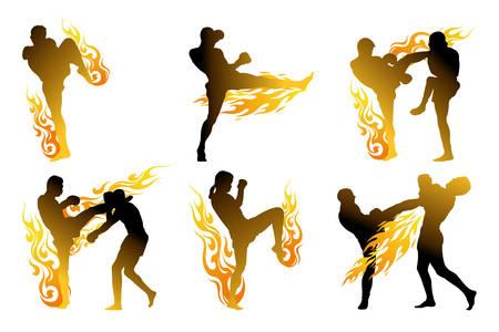 siam: thai boxing Illustration