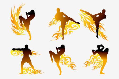 muay thai: thai boxing Illustration