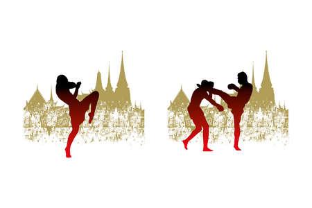 thai boxing Illustration