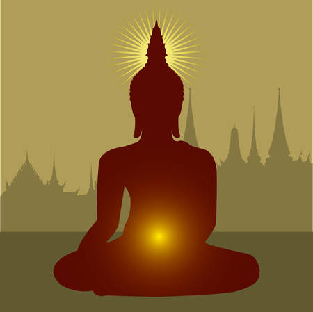 Boeddhisme Vector Illustratie