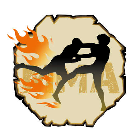 mixed: Mixed martial arts Illustration