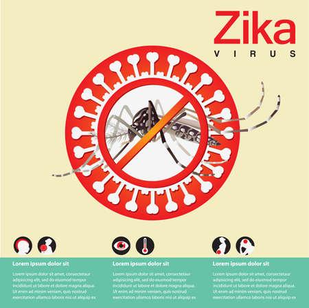 no mosquito: Zika virus Illustration