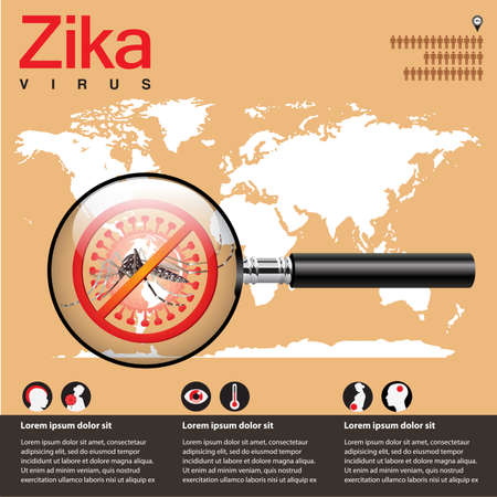 no mosquito: Zika virus Illustration