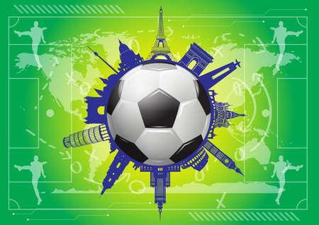 european championship: soccer background Illustration