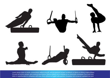 Gymnastics Vettoriali