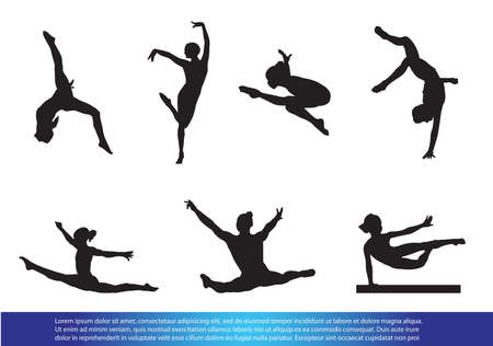 flexible girl: Gymnastics Illustration