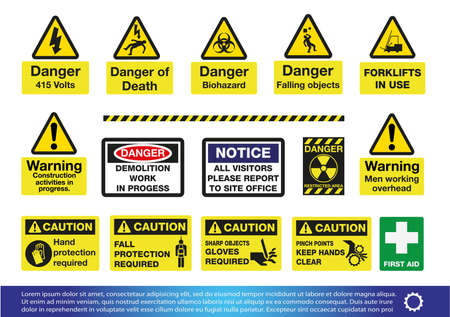 laser hazard sign: Safety and Warning Signs