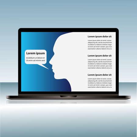 presentaion: laptop  template for presentaion