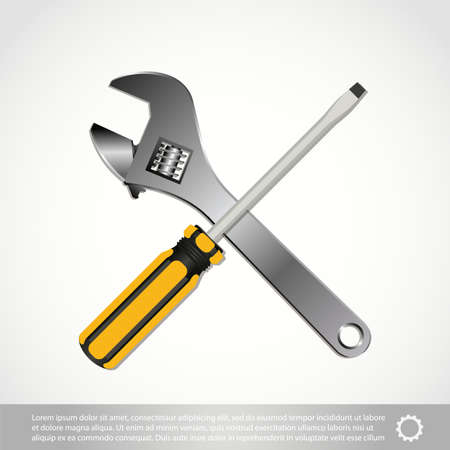 The tools icon isolated on white background