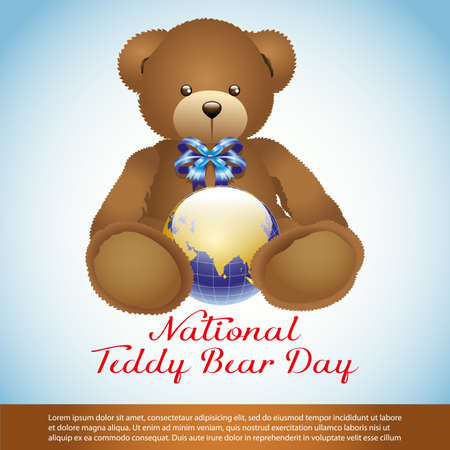 National Teddy Bear Day Illustration