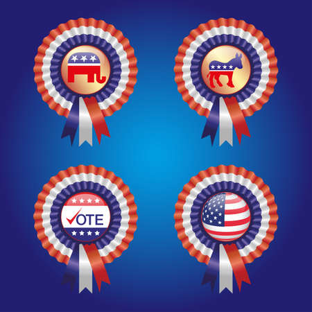 Vote for America ribbon