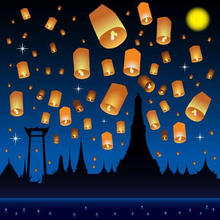 krathong: loy krathong festival background