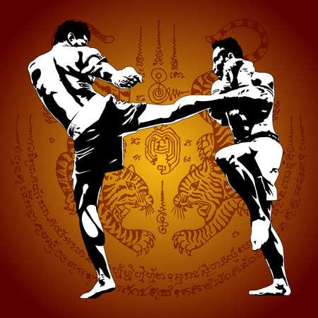 thai boxing Ilustração