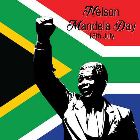 mandela: Vector illustration for International Nelson Mandela Day Illustration