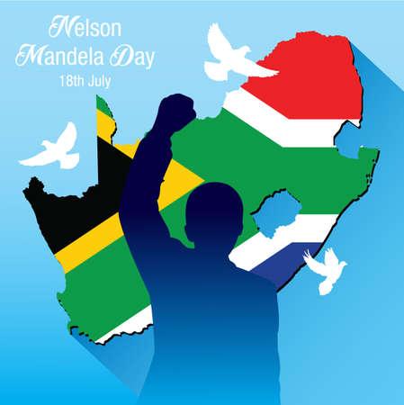 Vector illustration for International Nelson Mandela Day Illustration