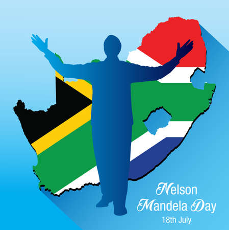 Vector illustratie voor de internationale Nelson Mandela Day Stockfoto - 82186267