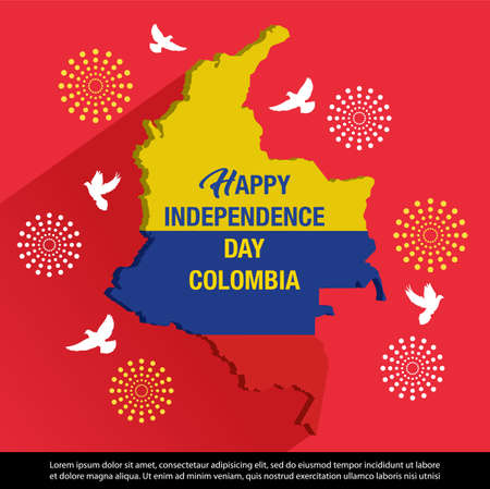 happy independence day colombia Banner
