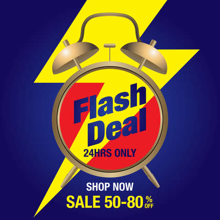 Flash deal, today only flash sale special offer banner