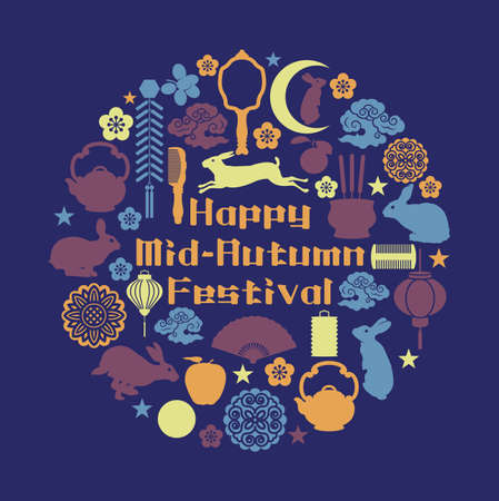 Vector illustration of a Banner for Mid Autumn Festival