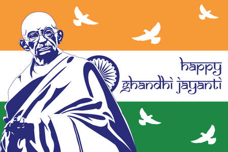 Gandhi Jayanti background vector illustration Illustration