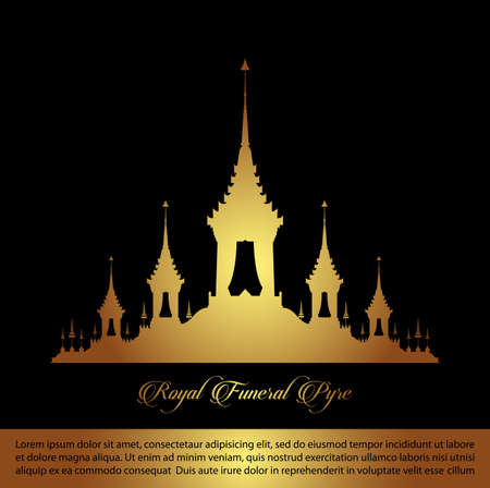 The Royal Funeral Pyre. Rama 9 of Thailand King