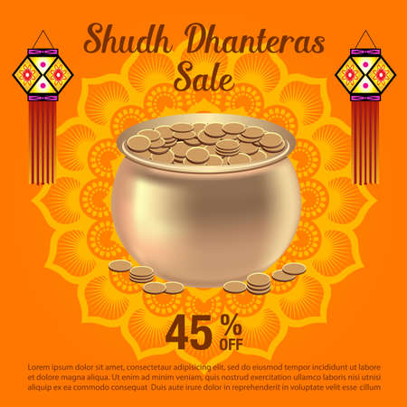 Indian Dhanteras Festival Background