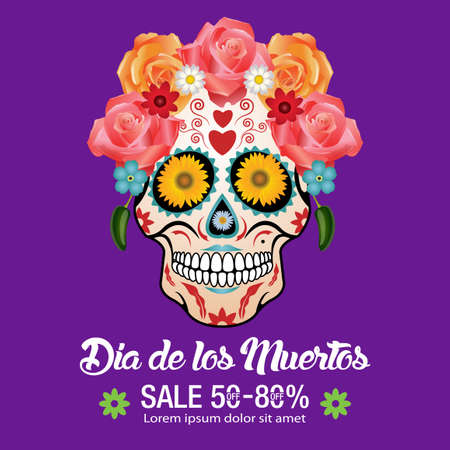 Day Of  the Dead Traditional Sale background