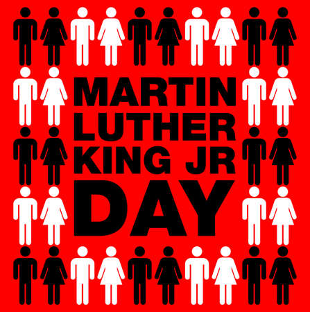 Martin Luther King Jr. Day background. Illustration of Martin Luther King, Jr. to celebrate MLK day.  イラスト・ベクター素材