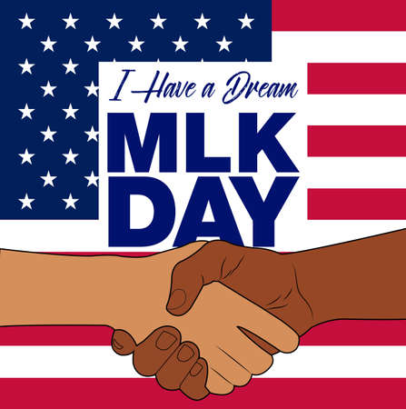 Martin Luther King Jr. Day background. Illustration of Martin Luther King, Jr. to celebrate MLK day. Illustration