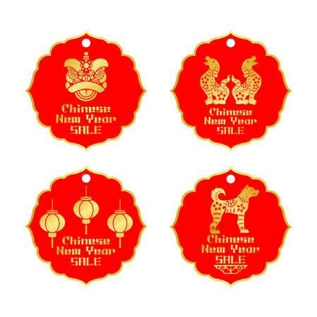 Chinese New Year sale label tags.
