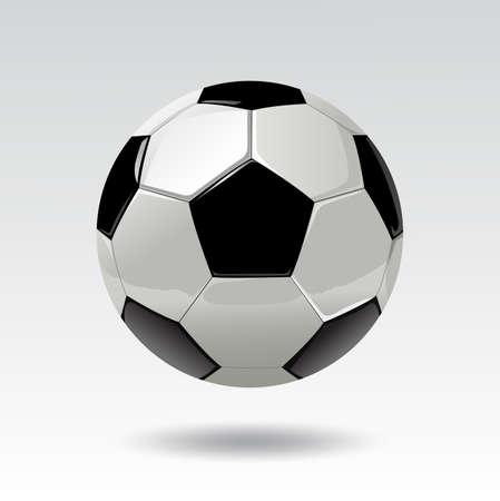 Soccer ball vector illustration, Football vector illustration, Soccer ball isolated on white background