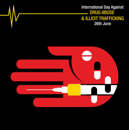 International Day against Drug Abuse and Illicit Trafficking background Фото со стока - 103832458