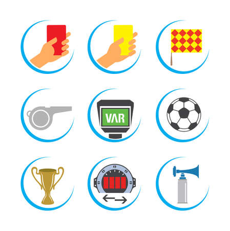 Soccer Icon Set, Football Icon Set, Soccer Vector Icon Set Фото со стока - 104229764