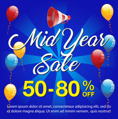 Mid Year Sale Background,Mid Year Sale Banner Template