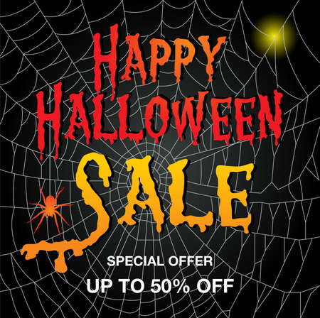 Vector illustration of a Banner for  halloween Sale background