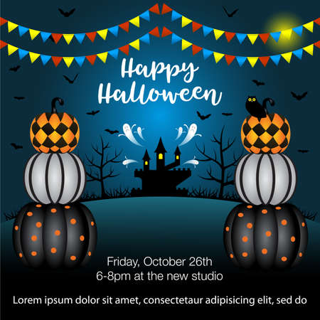 Vector illustration for  halloween Party Background