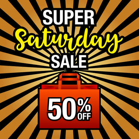 Super Saturday  Sale Banner Template. Vector Illustration. Фото со стока - 115587168