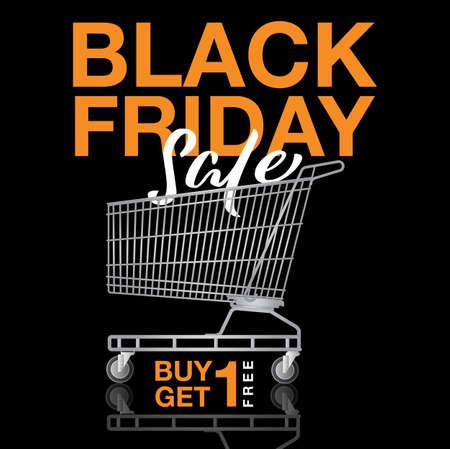 Black Friday Sale Banner Template. Vector Illustration.