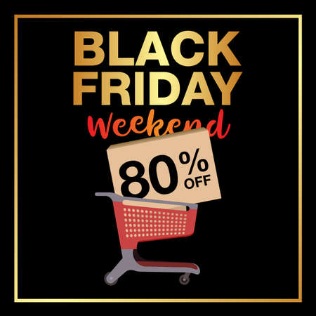 Black Friday Sale Banner Template. Vector Illustration. Фото со стока - 115587173