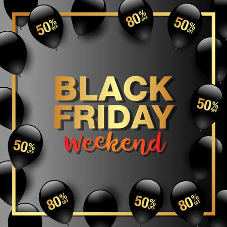 Black Friday Sale Banner Template. Vector Illustration. Фото со стока - 115587174