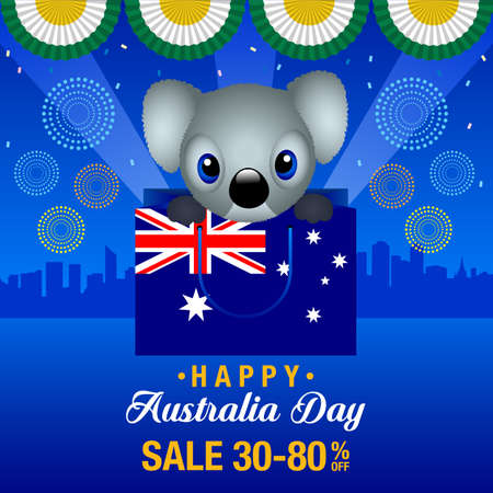 Happy Australia day Sale Background Vector illustration.