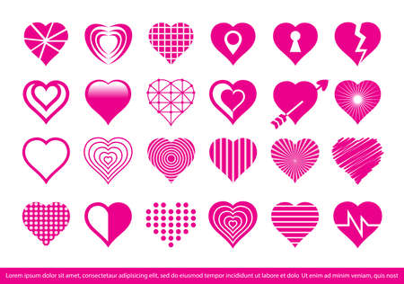 Heart Icon set-vector