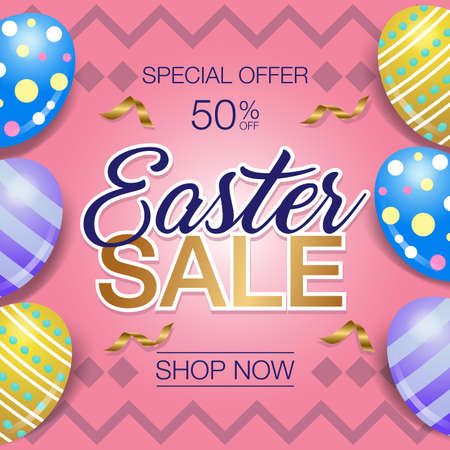 Easter day  sale banner Фото со стока - 126170342