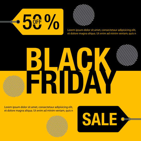 Black Friday Sale background. Black friday sale banner design. vector illustration