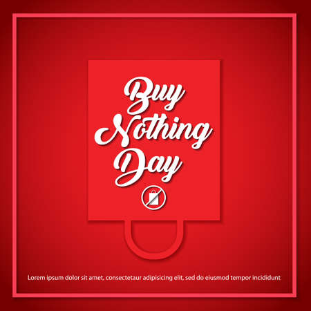 Buy nothing day concept. Buy Nothing Day banner design. Vector illustration