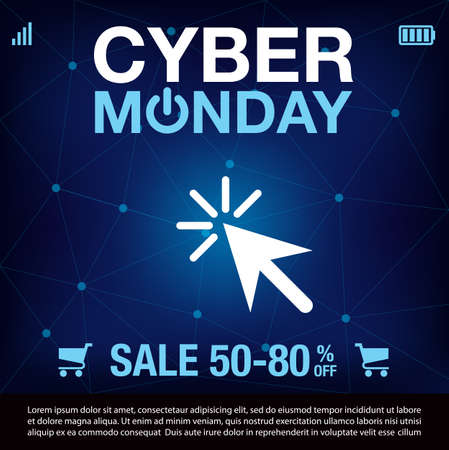 Cyber Monday Sale background. Cyber Monday sale banner design. vector illustration Illusztráció
