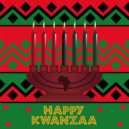 Happy Kwanzaa holiday background. African American cultures festival. Vector illustration